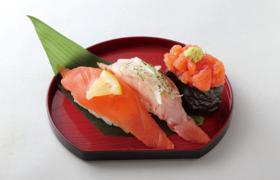 秋鮭三楽皿